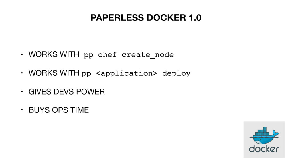 • WORKS WITH pp chef create_node  • WORKS WITH ...