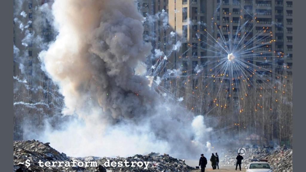 ~$ terraform destroy