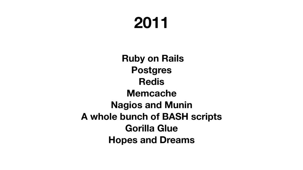 Ruby on Rails Postgres Redis Memcache Nagios an...