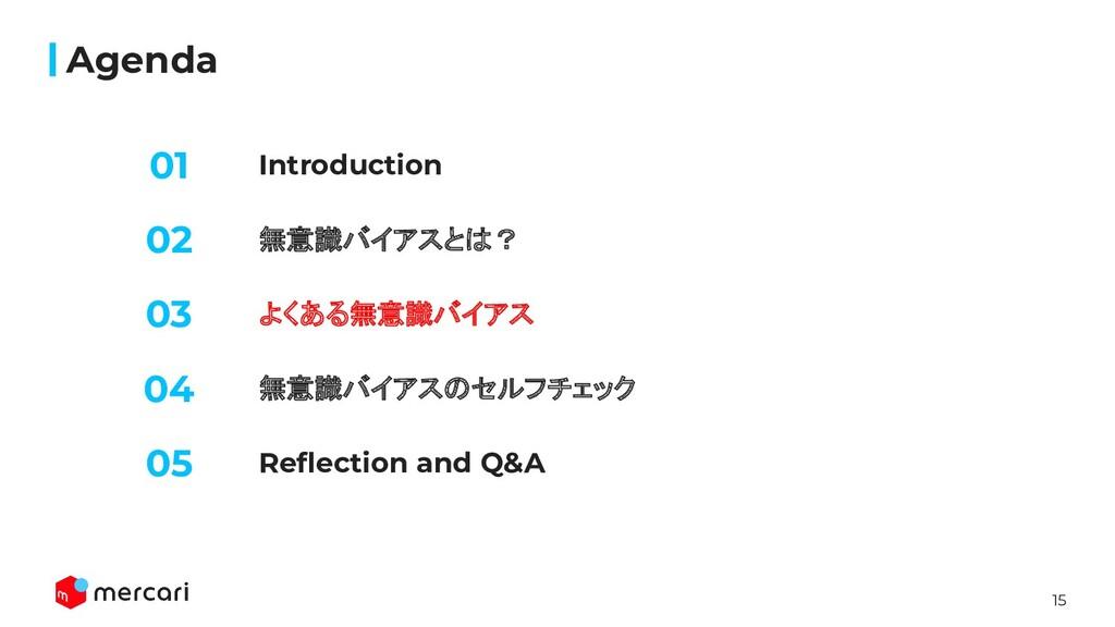 15 Introduction Agenda 無意識バイアスとは? よくある無意識バイアス 0...