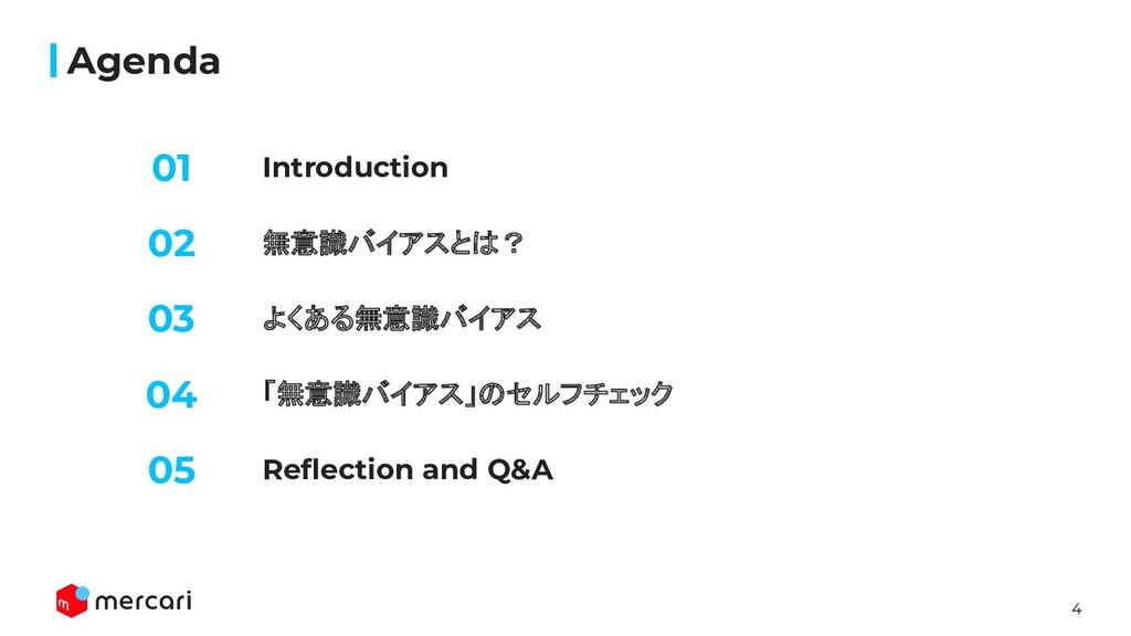 4 Introduction Agenda 無意識バイアスとは? よくある無意識バイアス 02...
