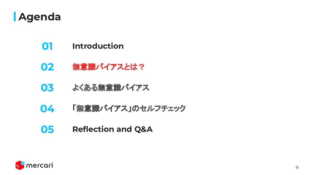 9 Introduction Agenda 無意識バイアスとは? よくある無意識バイアス 02...