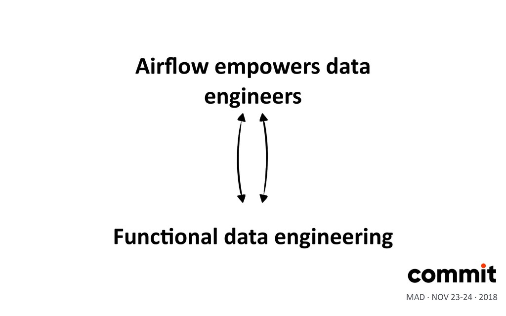 MAD · NOV 23-24 · 2018 Airflow empowers data eng...