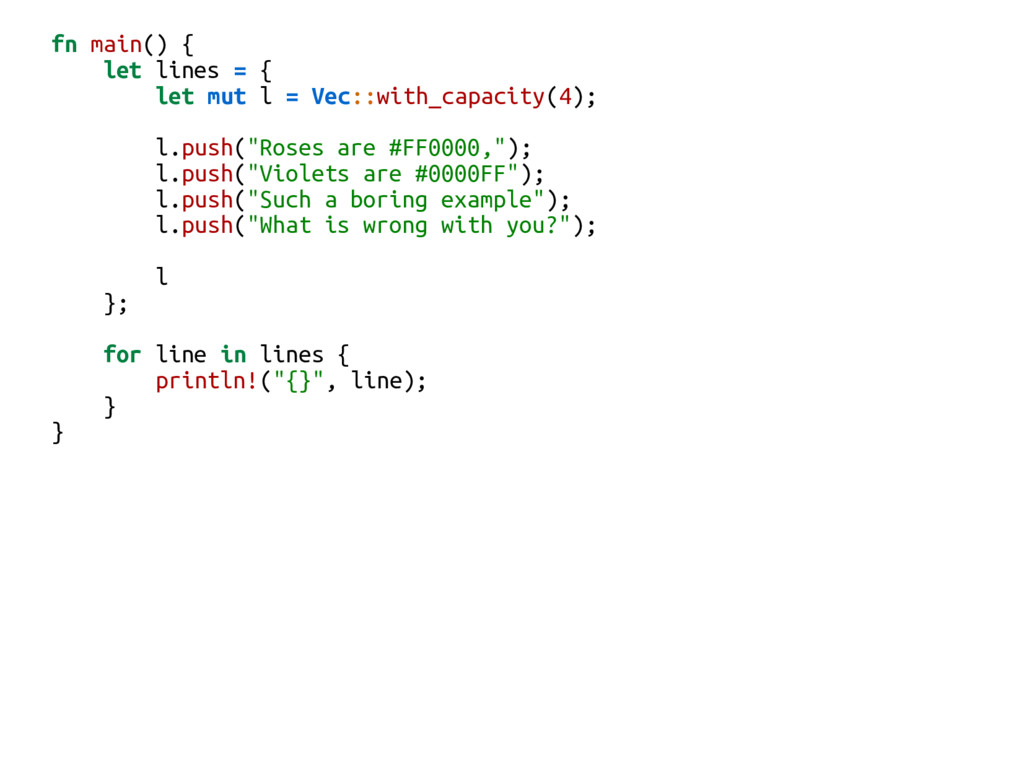 fn main() { let lines = { let mut l = Vec::with...