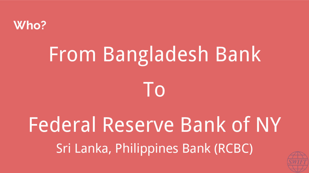 Who? From Bangladesh Bank To Federal Reserve Ba...