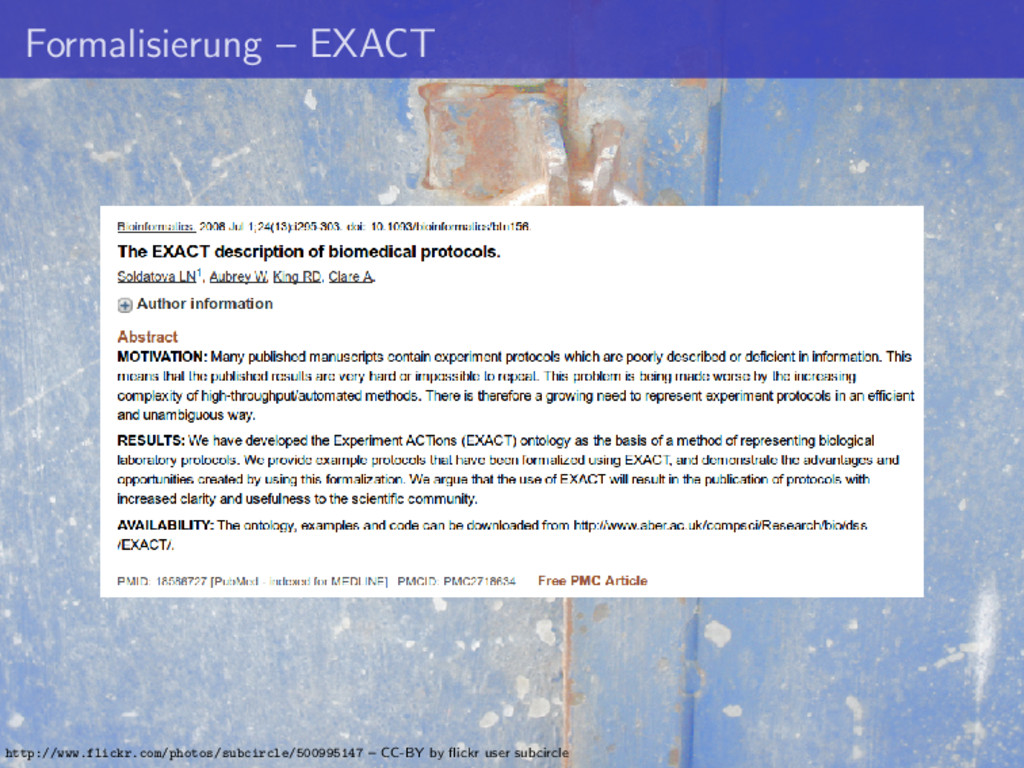 Formalisierung – EXACT http://www.flickr.com/ph...