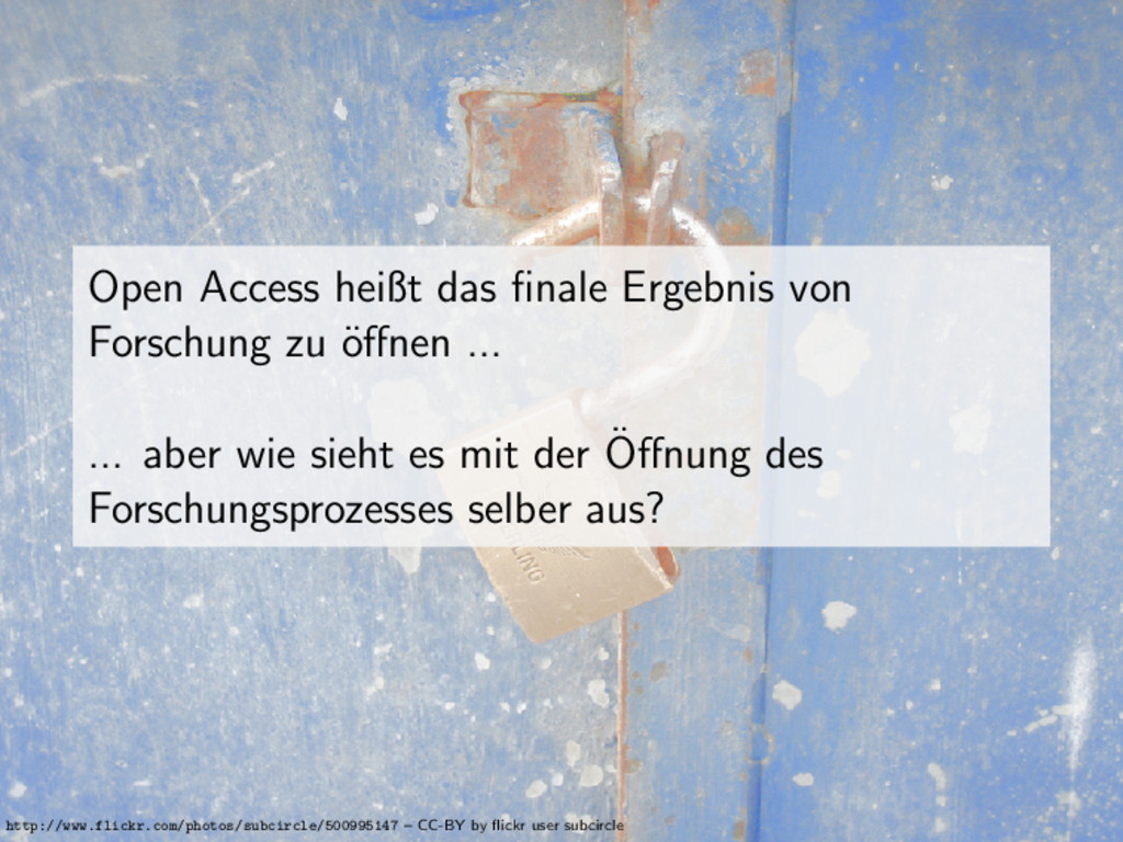 Open Access heißt das finale Ergebnis von Forsch...