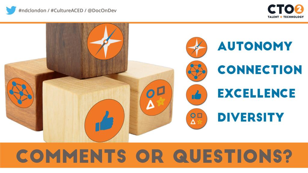 #ndclondon / #CultureACED / @DocOnDev Comments ...