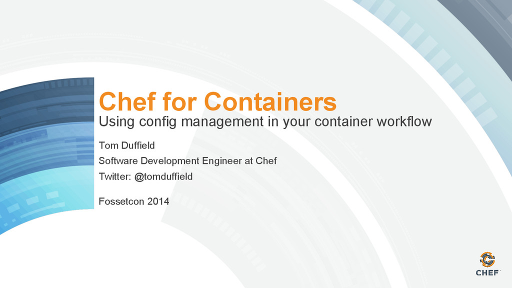 Chef for Containers Using config management in ...