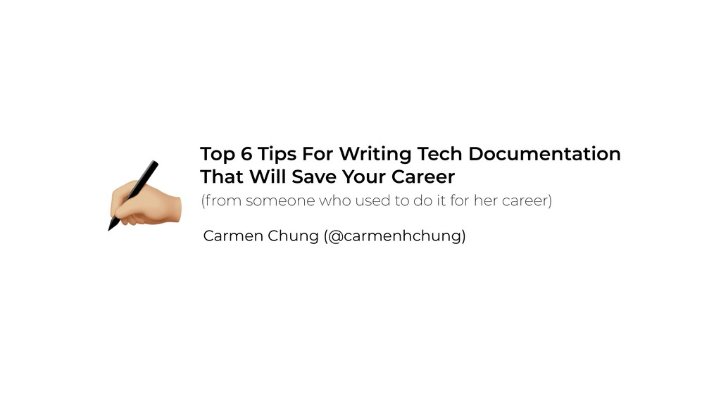 Top 6 Tips For Writing Tech Documentation  Tha...