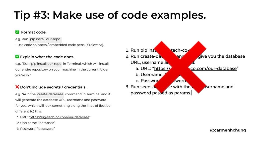 ✅ Format code. e.g. Run pip install our-repo - ...