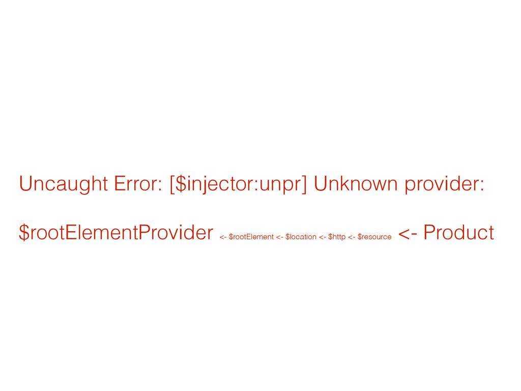 Uncaught Error: [$injector:unpr] Unknown provid...