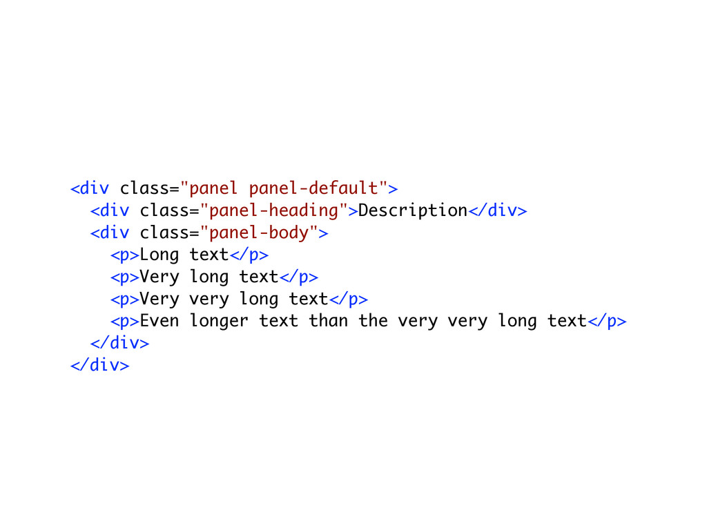 """! ! <div class=""""panel panel-default""""> <div clas..."""