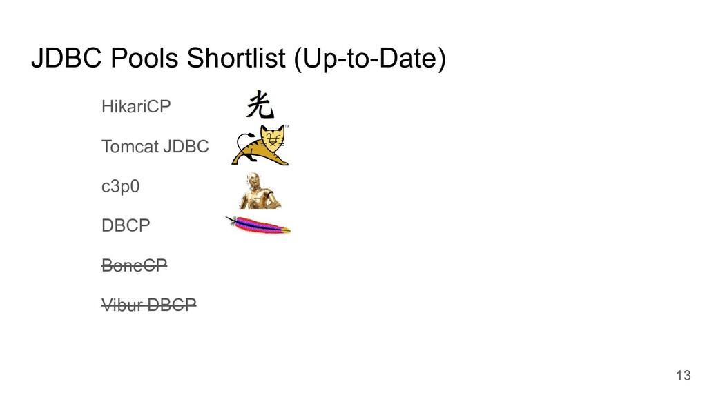 JDBC Pools Shortlist (Up-to-Date) HikariCP Tomc...