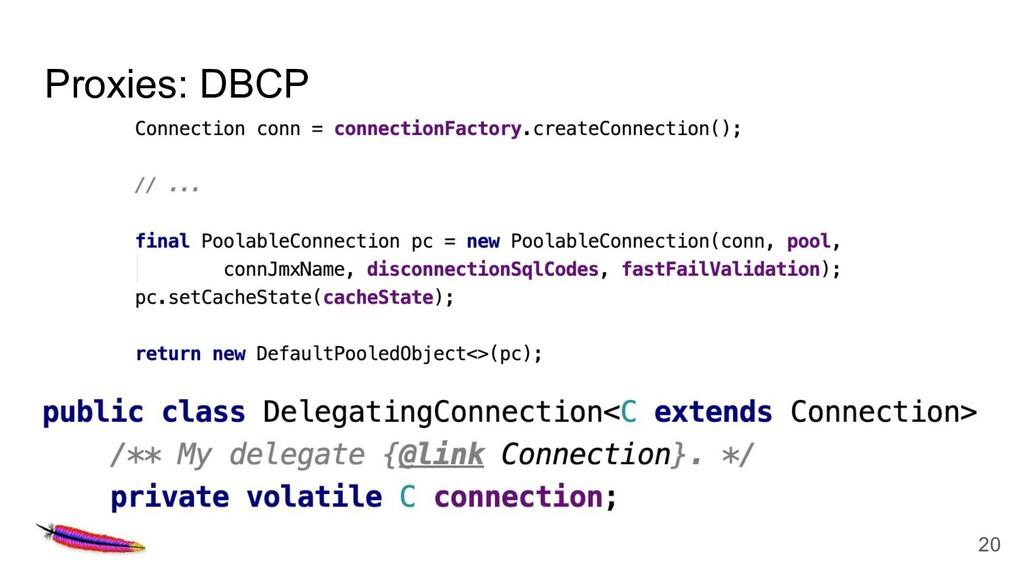 Proxies: DBCP 20