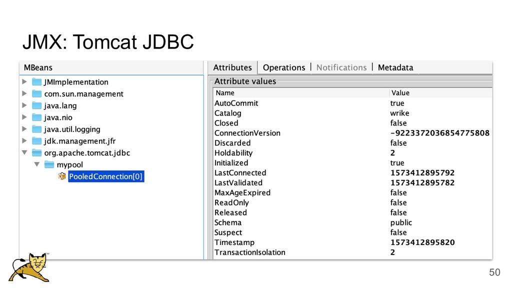 JMX: Tomcat JDBC 50
