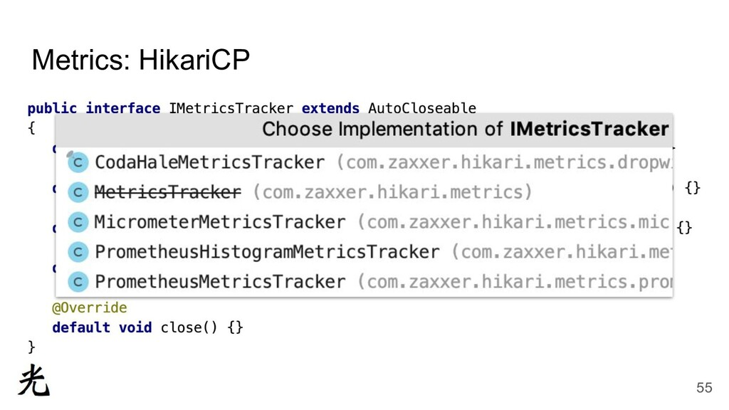 Metrics: HikariCP 55