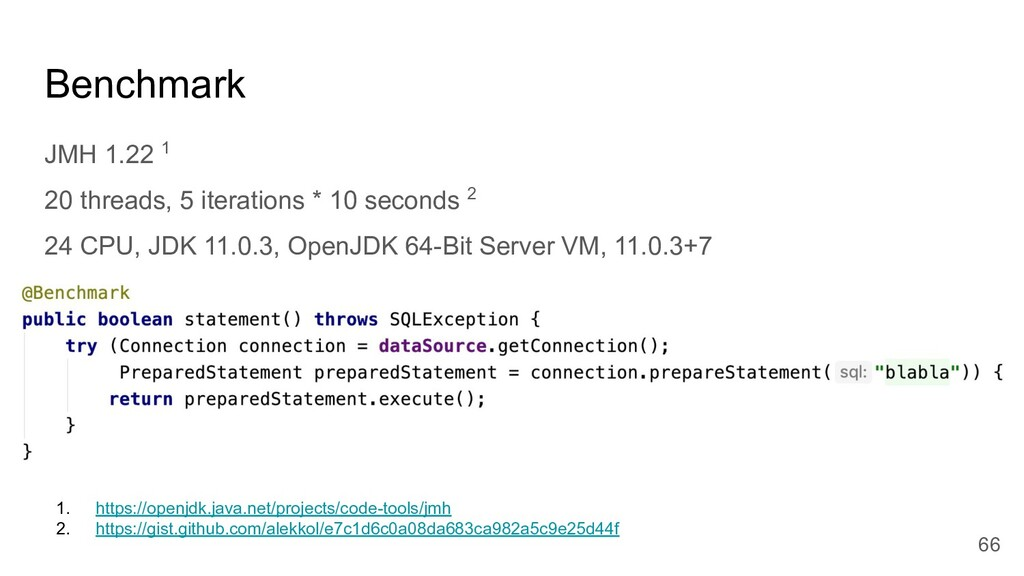 Benchmark JMH 1.22 1 20 threads, 5 iterations *...