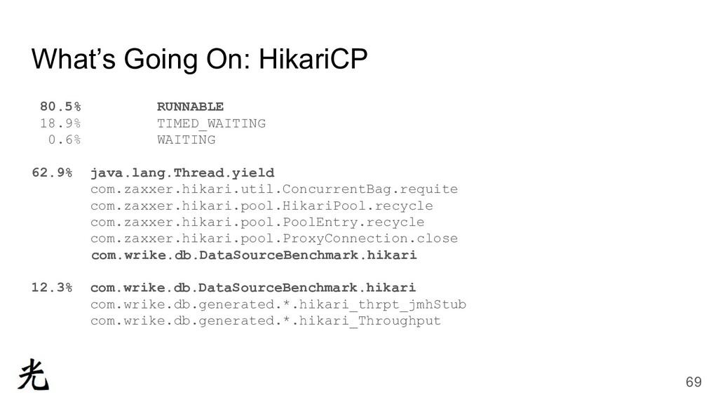What's Going On: HikariCP 80.5% RUNNABLE 18.9% ...
