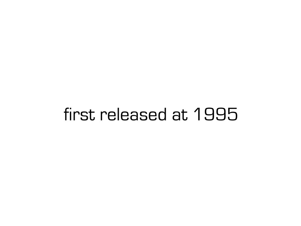 first released at 1995