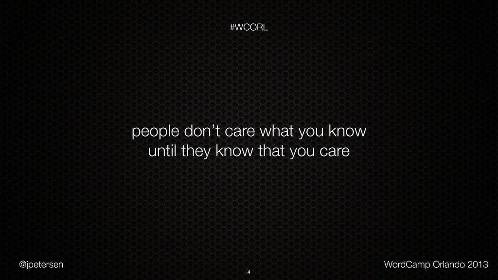 @jpetersen WordCamp Orlando 2013 #WCORL 4 peopl...