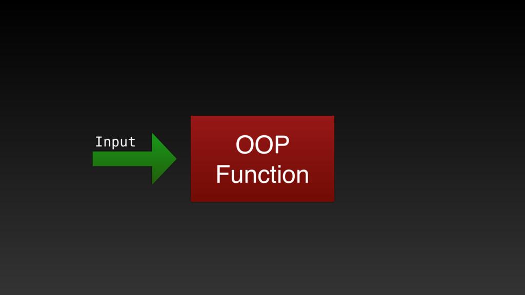 OOP Function Input