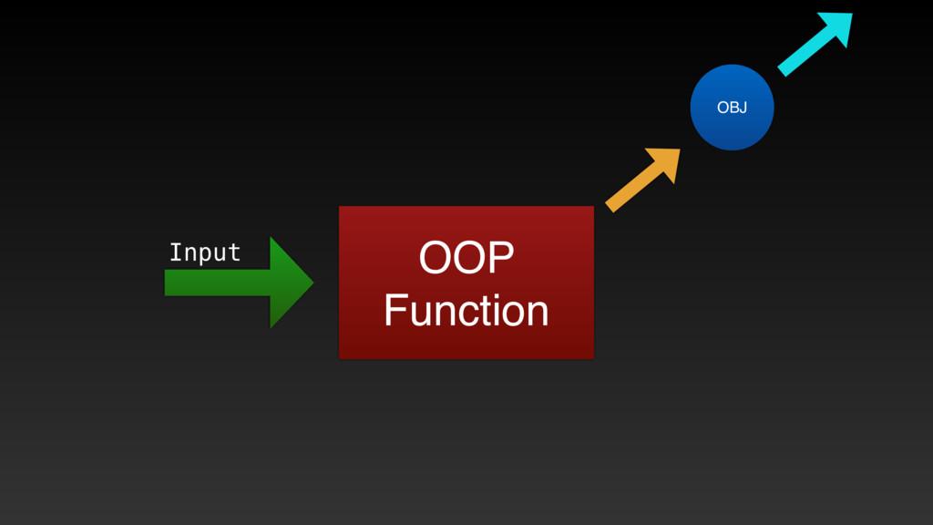 OOP Function Input OBJ