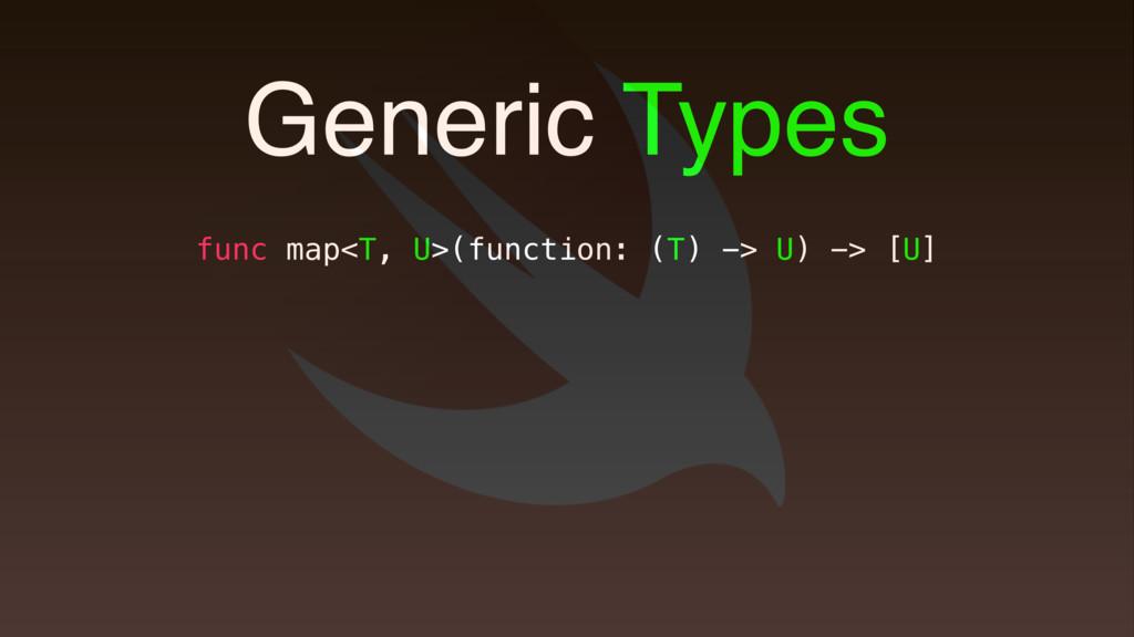 func map<T, U>(function: (T) -> U) -> [U] Gener...