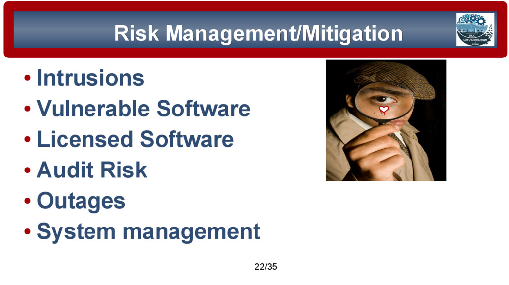 © 2015 Assimilation Systems Limited 22/35 Risk ...