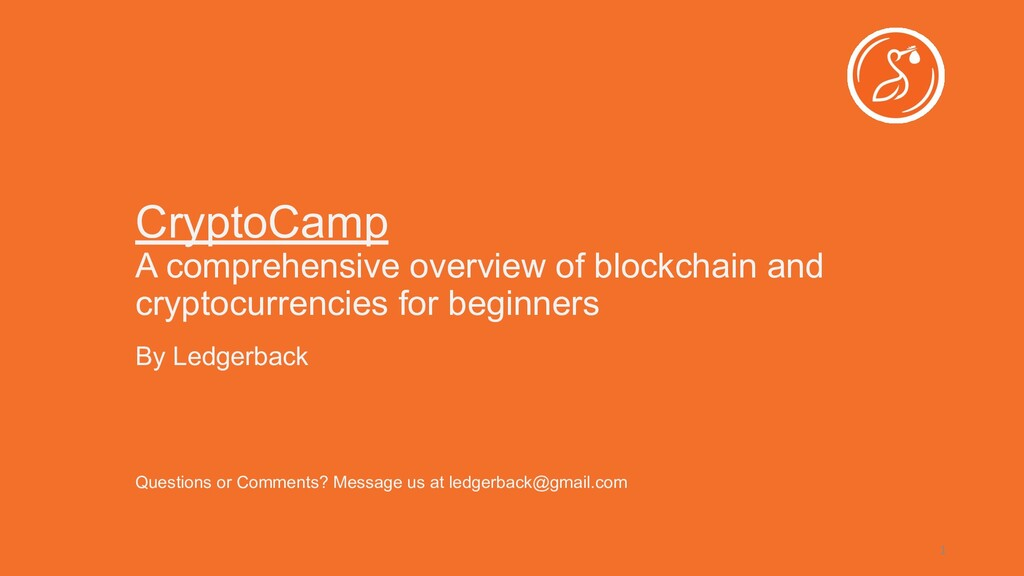 CryptoCamp A comprehensive overview of blockcha...