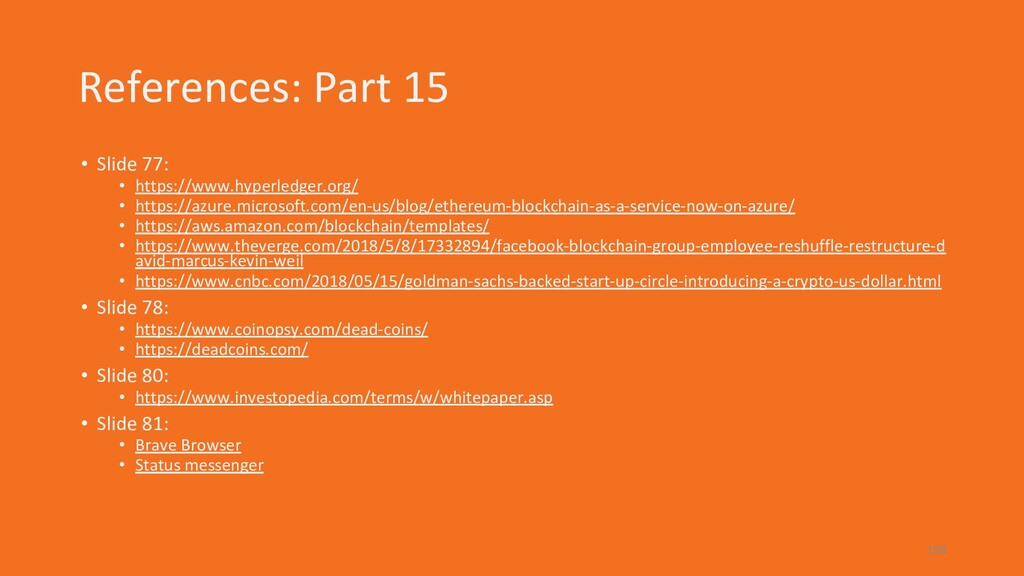 References: Part 15 • Slide 77: • https://www.h...