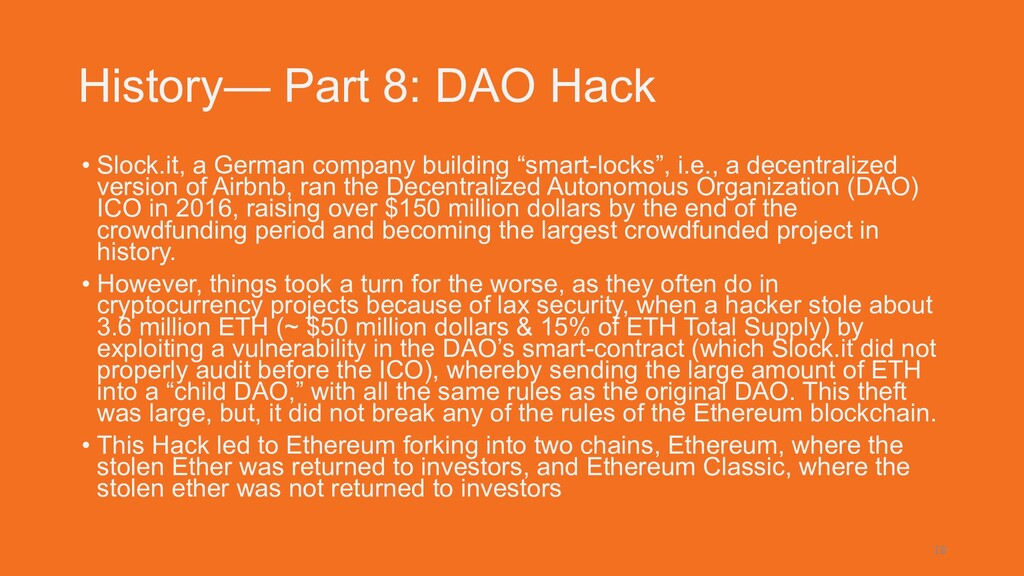 History— Part 8: DAO Hack • Slock.it, a German ...