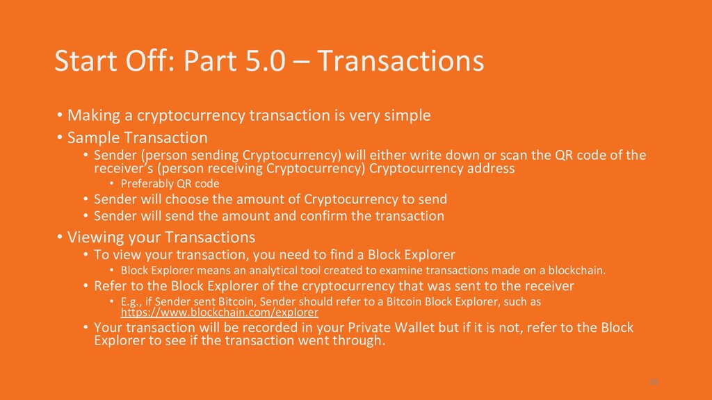 Start Off: Part 5.0 – Transactions • Making a c...