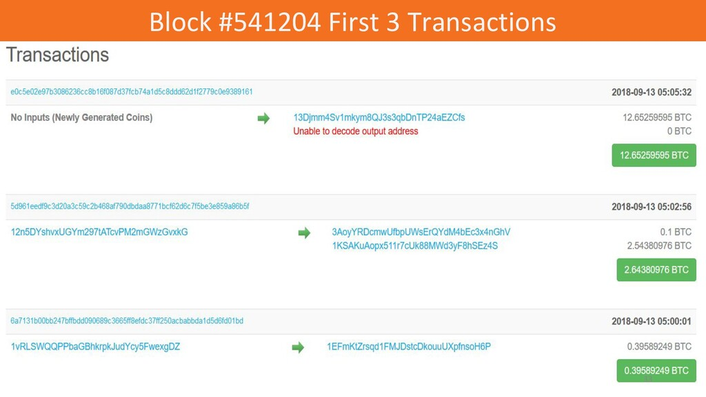 Block #541204 First 3 Transactions 33