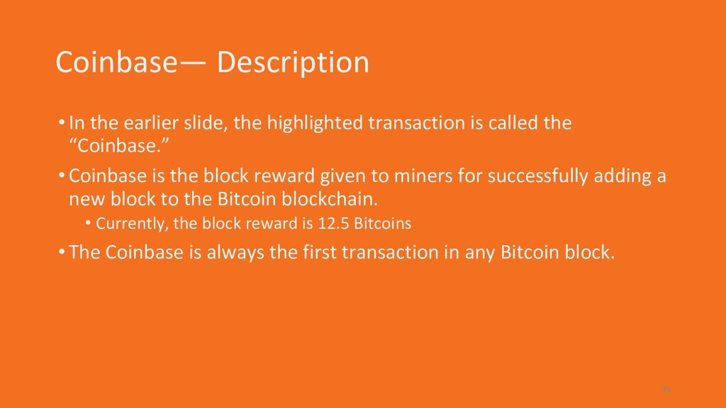 Coinbase— Description •In the earlier slide, th...