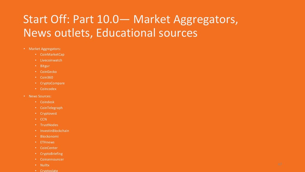 Start Off: Part 10.0— Market Aggregators, News ...