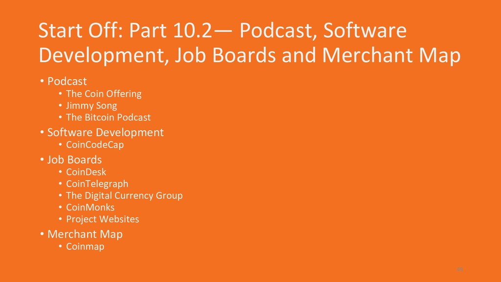Start Off: Part 10.2— Podcast, Software Develop...