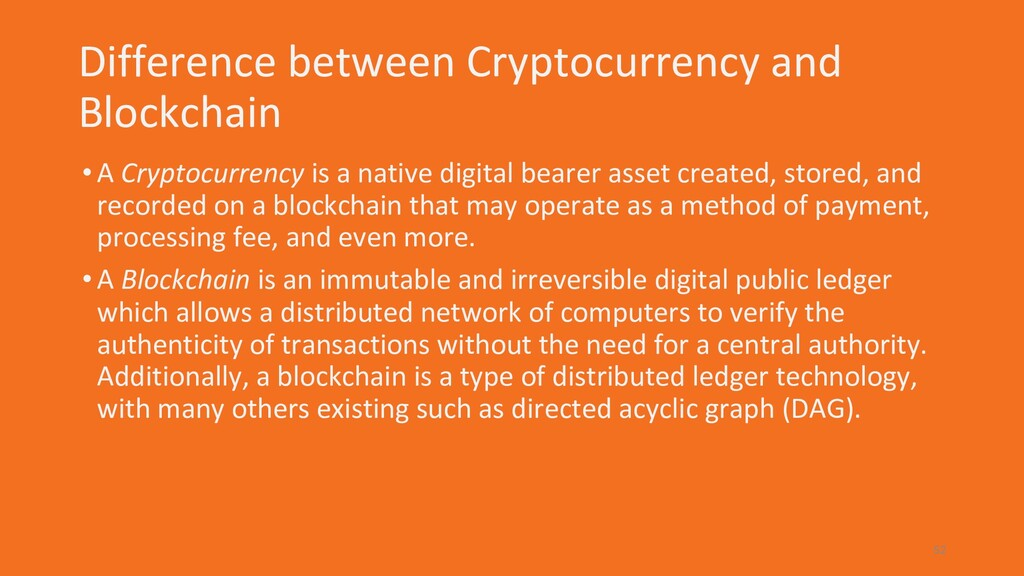 Difference between Cryptocurrency and Blockchai...