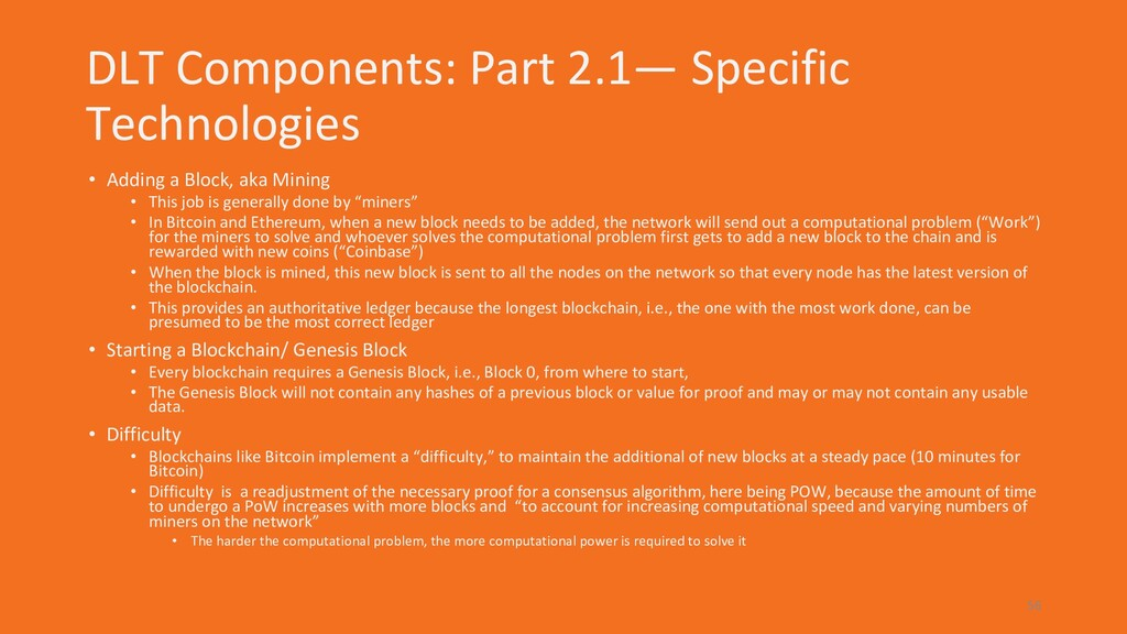 DLT Components: Part 2.1— Specific Technologies...