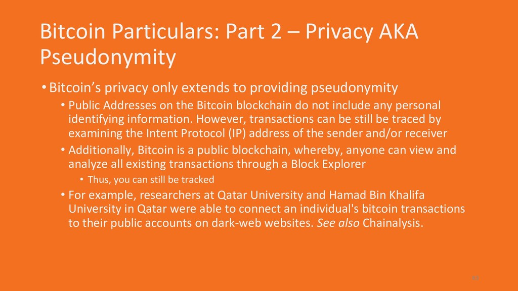Bitcoin Particulars: Part 2 – Privacy AKA Pseud...
