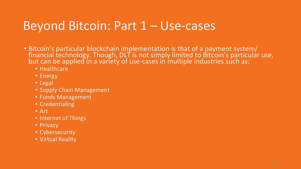 Beyond Bitcoin: Part 1 – Use-cases • Bitcoin's ...