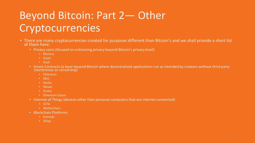 Beyond Bitcoin: Part 2— Other Cryptocurrencies ...
