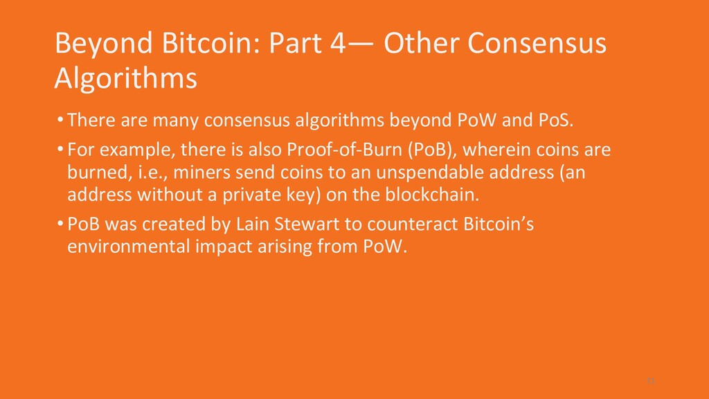 Beyond Bitcoin: Part 4— Other Consensus Algorit...