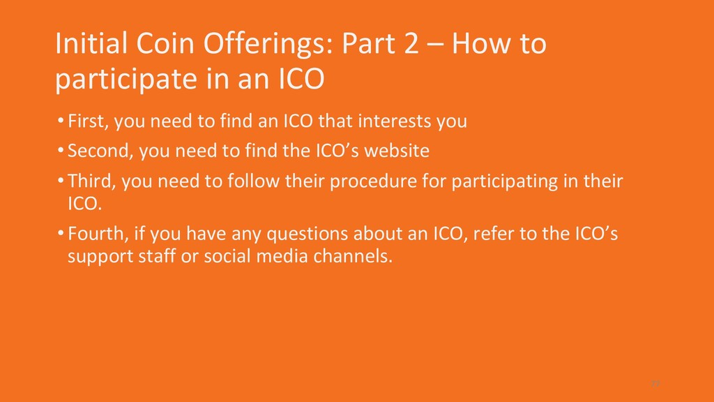Initial Coin Offerings: Part 2 – How to partici...