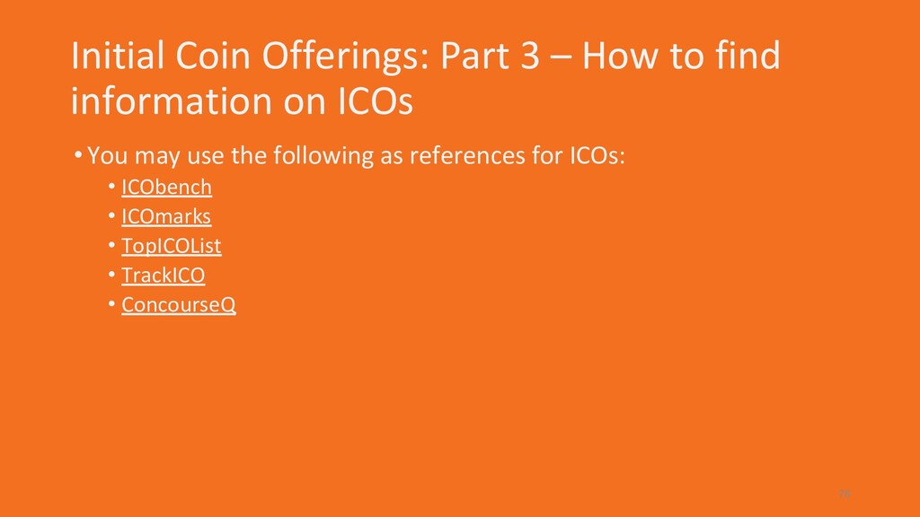 Initial Coin Offerings: Part 3 – How to find in...