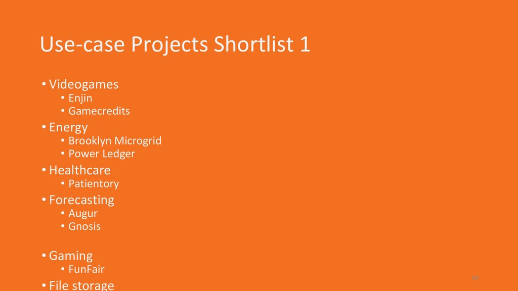 Use-case Projects Shortlist 1 • Videogames • En...