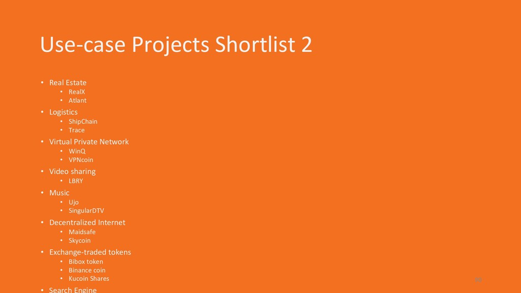 Use-case Projects Shortlist 2 • Real Estate • R...
