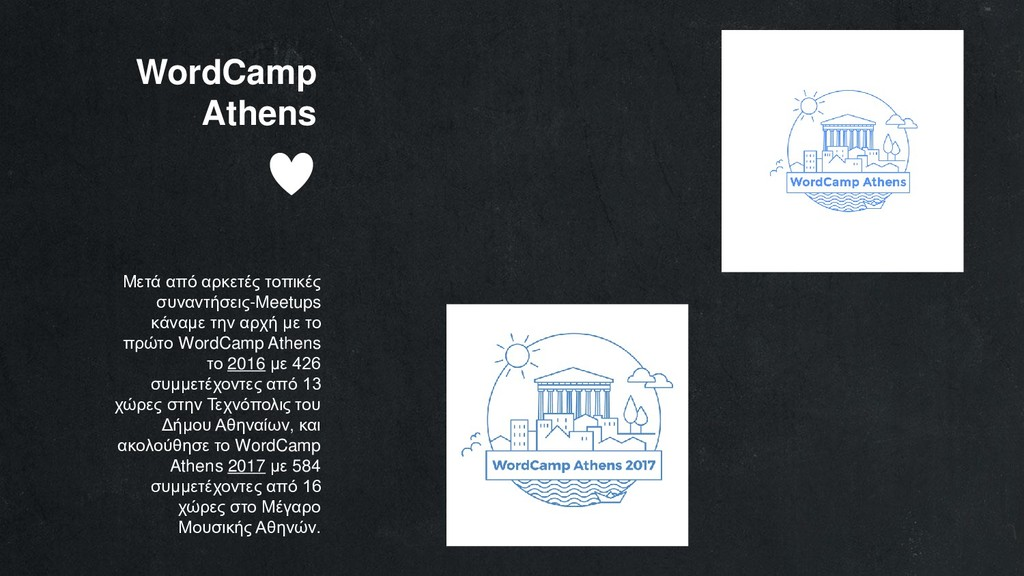 WordCamp Athens Μετά από αρκετές τοπικές συναντ...