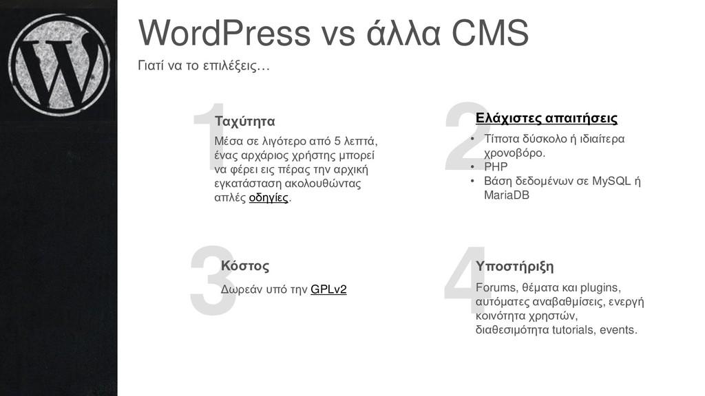 WordPress vs άλλα CMS Γιατί να το επιλέξεις… 1 ...