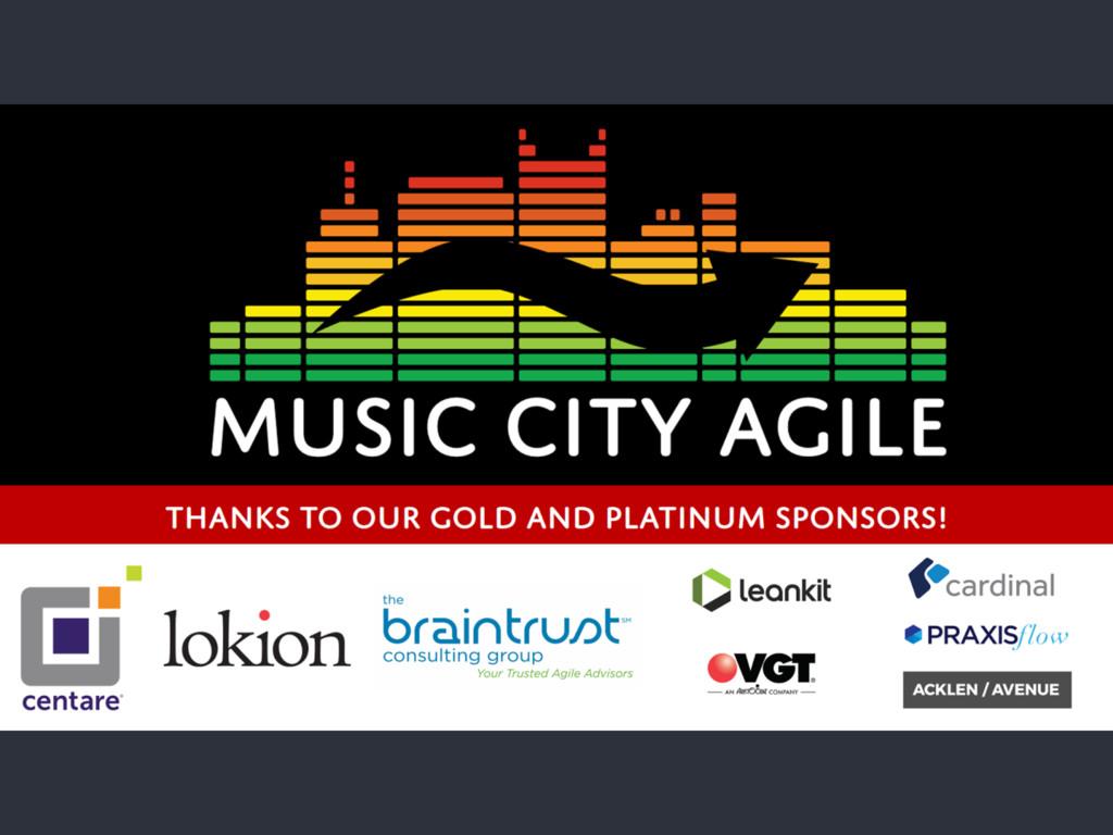 Music City Agile 2016 - @jeffmikres 1